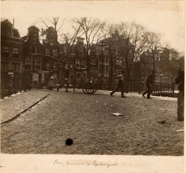 Brug Spiegelgracht/Lijnbaansgracht te Amsterdam, George Hendrik Breitner (toegeschreven aan), 1886 - 1910 (herkomst: coll. Rijksmuseum Amsterdam)