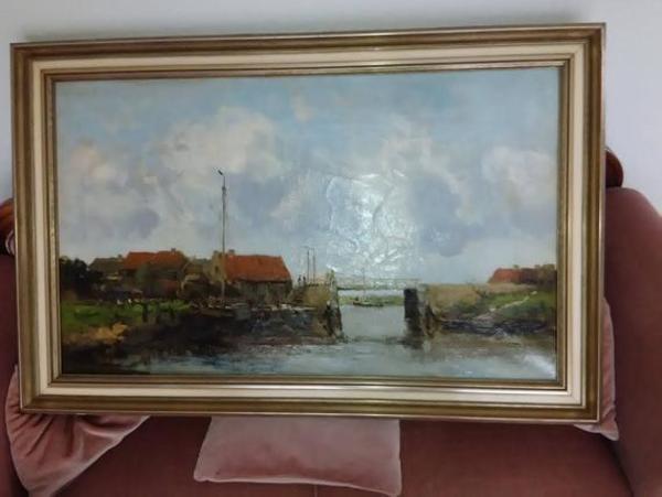 W.G.F. Jansen Haagse school schilderij te koop | Etsy