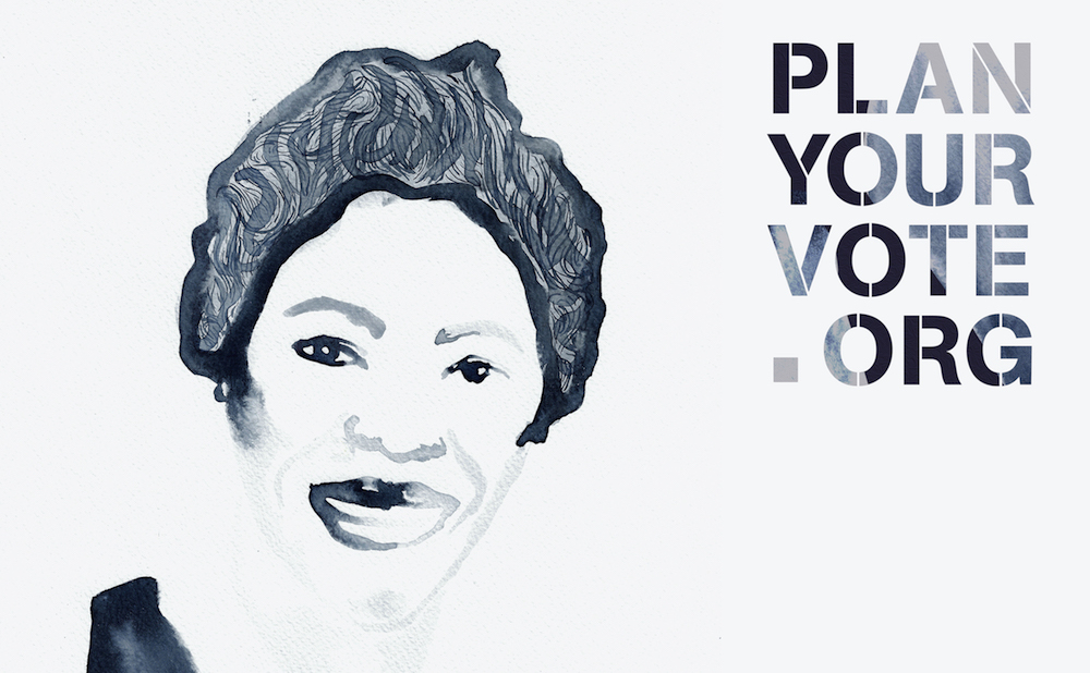 """Kambui Olujimi's artwork for """"Plan Your Vote"""" (image courtesy of the artists and Plan Your Vote)"""