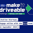 Ford Virtual European Startups Challenge stops in Italy (September 23rd, 2020 @ 2:45 PM)
