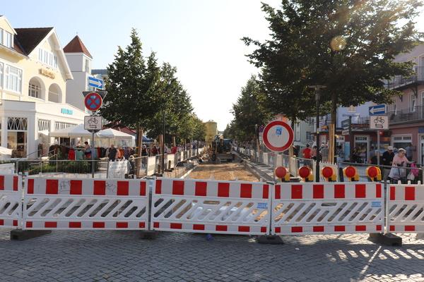Gesperrte Strandstraße in Kühlungsborn (Foto: Cora Meyer)