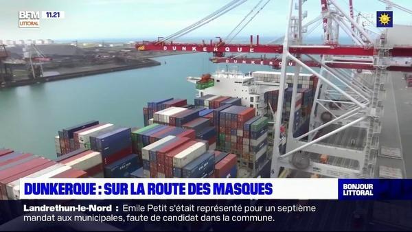 Dunkerque : sur la route des masques - Miljoen maskers passeren haven Dunkerque