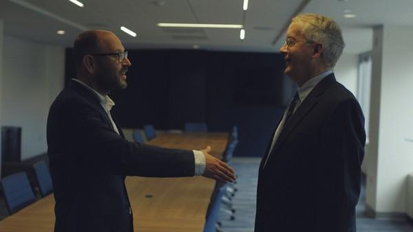 Gideon Levy (l) en Myron Ebell (r) / BNNVARA