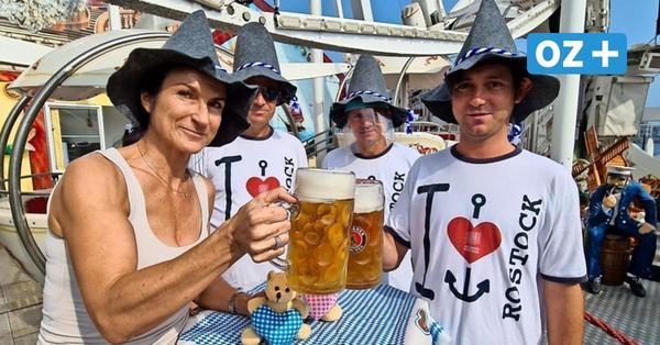 Weißwurst und Bier in Warnemünde: Schausteller wollen Appetit nach Oktoberfest stillen