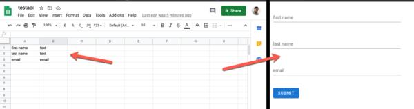 Google Sheet to online form generator