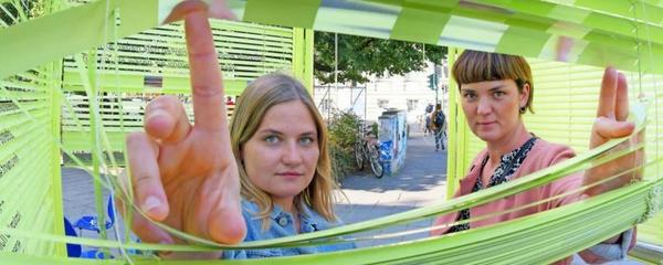 Jana Kamm und Doreen Löwe wollen mit ihren Team und dem Localize-Festival einen neuen Blick auf die Innenstadt ermöglichen. Bild: Bernd Gartenschläger