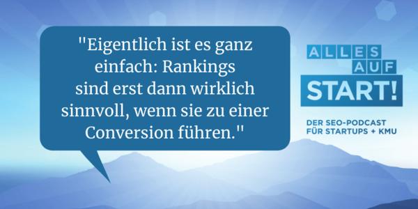 Rankings, Klicks, Visits, Conversions: Die SEO-Viererkette [Alles auf Start 20]