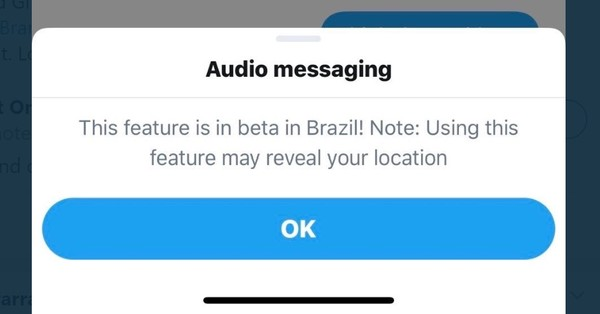 Audio messaging in Twitter DMs