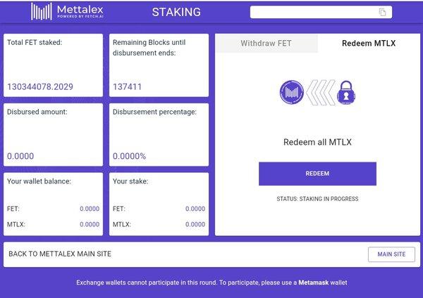 Mettalex staking overview