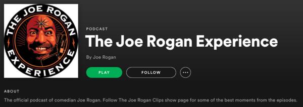 Spotify har indgået en ekslkusivaftale med den amerikanske podcaster Joe Rogan så hans podcast fra årsskiftet kun kan findes på Spotify