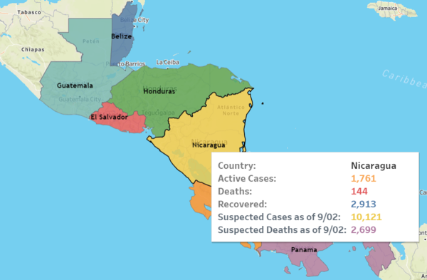 Visit our interactive COVID-19 map of Central America