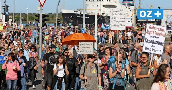 Corona-Demo in Rostock: So lief die Kundgebung und das fordern die Demonstranten
