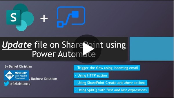 Update File on SharePoint using Power Automate
