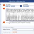 Auto Width Label Generator