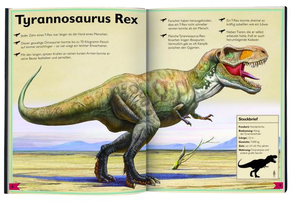 """Blick in """"Das Riesenbuch der Dinosaurier"""", Verlag moses."""