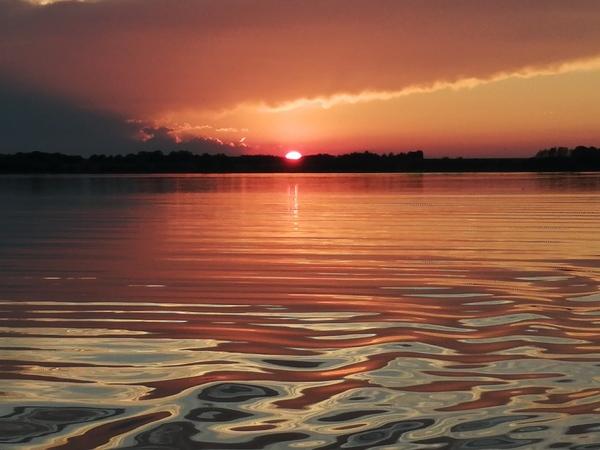 Sonnenuntergang auf der Insel Poel (Foto: Anja Köhler)