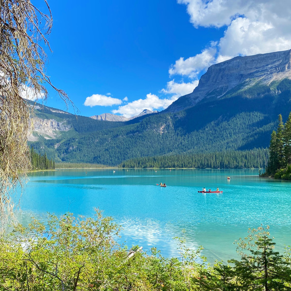 Just another wow: Emerald Lake is located in Yoho National Park in BC.
