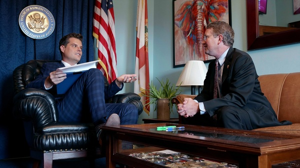 Matt Gaetz (l) & Thomas Massie (r) / HBO