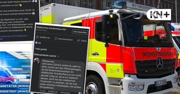 Feuerwehr Kiel kritisiert Werbung des Städtischen Krankenhauses