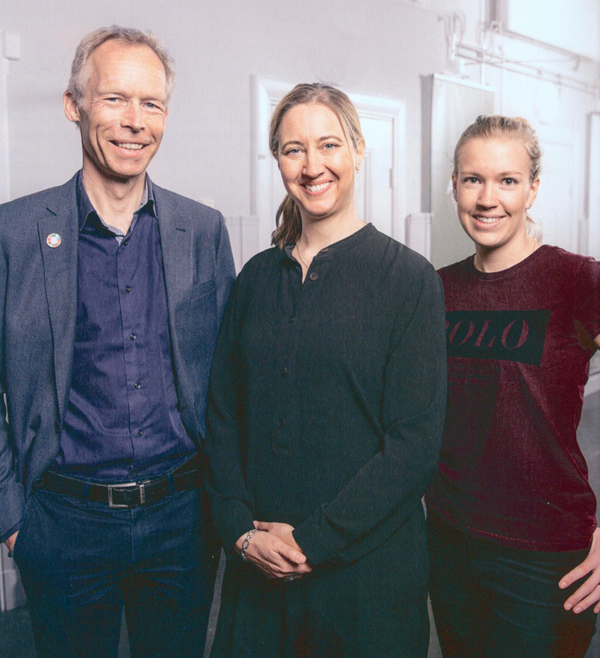 Rockström, Landqvist und Bignet (v.l.) haben das Buch erarbeitet. Foto: Marcus Erixson