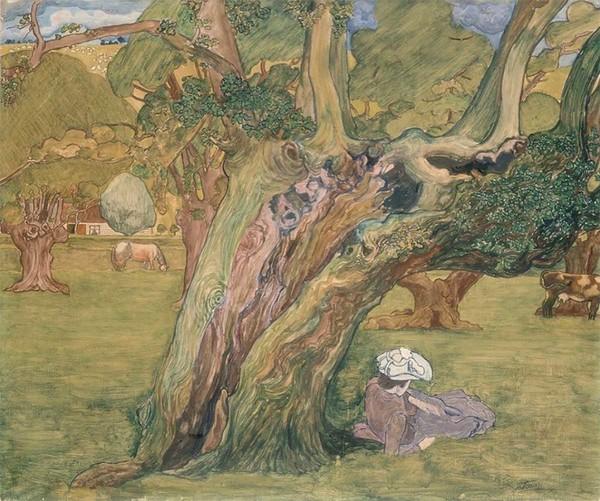 'Oude Eijk in Surrey' - olieverf op doek: Jan Toorop (herkomst: coll. Stedelijk Museum, Amsterdam)