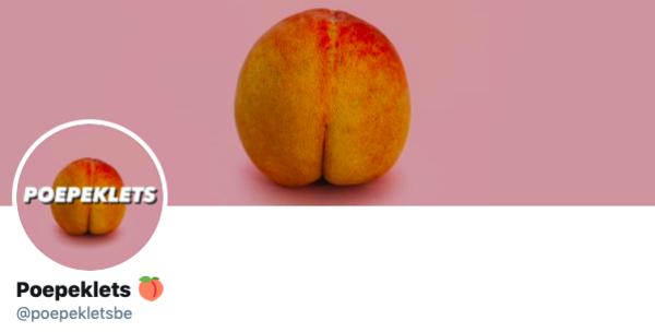 @poepekletsbe - je herkent ons aan het perzikje