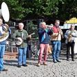 Selbstständige Musiker demonstrieren in Hannover für staatliche Existenzhilfe