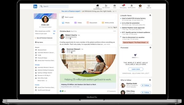 Novo LinkedIn, também com Stories