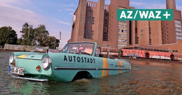Mit dem Auto durch den Mittellandkanal: Das kann nur das Amphicar