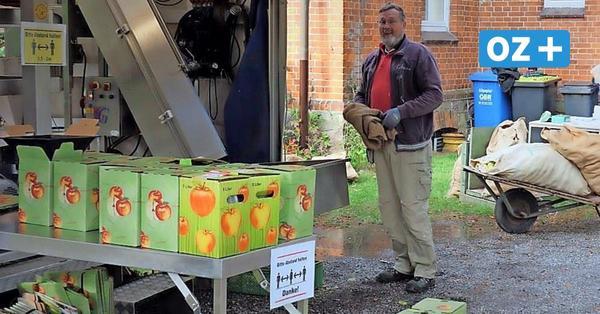 Verkauf von Apfelsaft hilft bei Sanierung der Hornstorfer Kirche