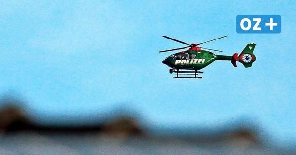 Darum kreist der Polizeihubschrauber über Stralsundolizei sucht mit Hubschrauber und Fährtenhund nach vermisster Frau