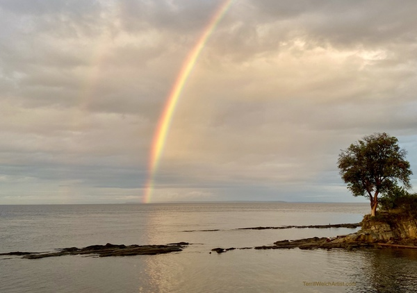 A double rainbow evening by Terrill Welch
