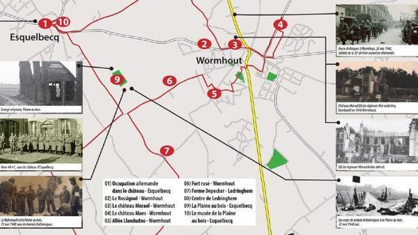 Wormhout/Esquelbecq/Ledringhem : création des Sentiers de mémoire - Herinneringsparcours rond Tweede Wereldoorlog