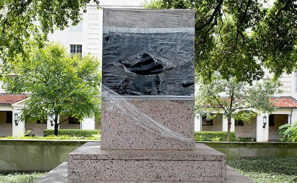 "Allison Stewart, ""Removed Albert Sidney Johnston monument, University of Texas, Austin Texas (image courtesy the artist)"
