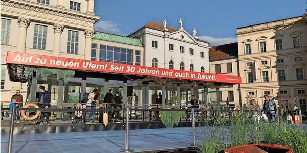 Der Brandenburg-Pavillon auf der Einheits-Expo. Foto: Staatskanzlei Potsdam