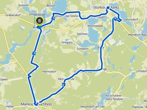 Die Route im Überblick.