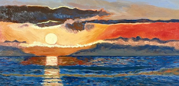 Morning Greeting by Glenda King, oil on canvas, 12 x 24 inches.