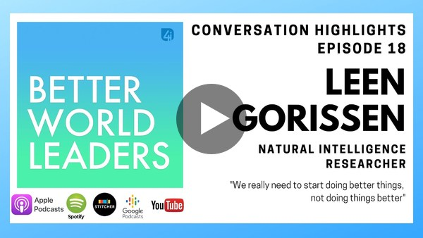 Natural Intelligence researcher, Leen Gorrisen, conversation highlights