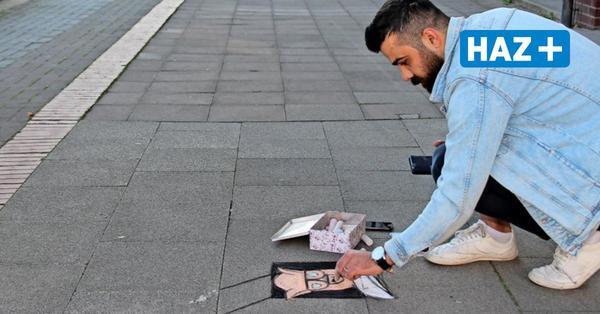 Warum dieser Mann 3D-Kreidebildern auf Langenhagens Straßen malt