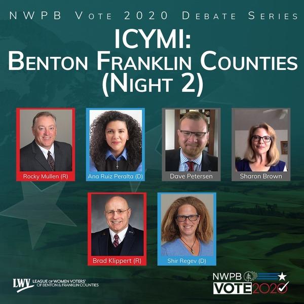 Watch night two of the Benton, Franklin County debates