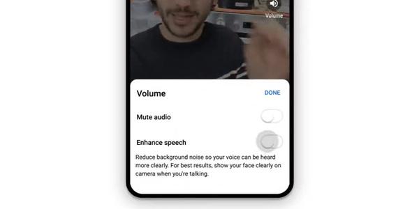 YouTube Stories auto-audio enhancement. Credit: YouTube