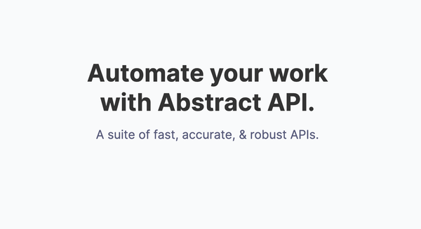 Abstract APIs