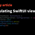 Encapsulating SwiftUI View Styles