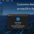 Customise About Panel On MacOS In SwiftUI