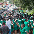 How nurses threw caution to the wind during Akufo-Addo's tour of Eastern Region