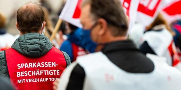 Streiks an allen Sparkassen in Sachsen