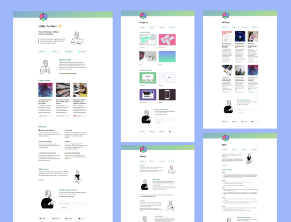 Recreating My Personal Site Using Notion + Free Notion Personal Site Template Pack