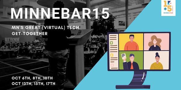 Minnebar15 Registration, Tue, Oct 6, 2020 at 9:00 AM