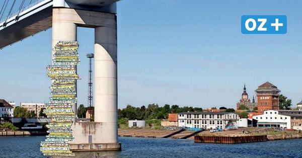 Büchertürme in Stralsund: Grundschüler wollen mit Lesestoff die Rügenbrücke erklimmen