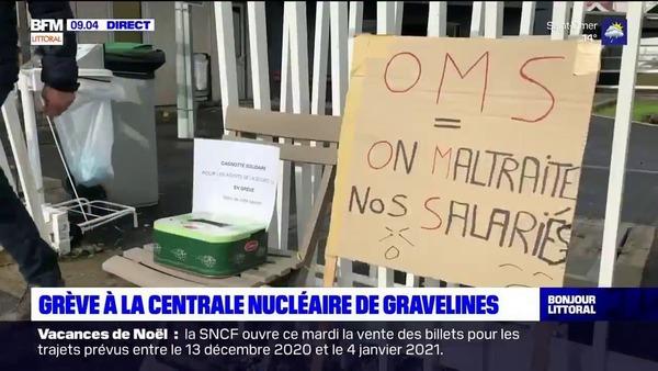Gravelines: grève des agents d'entretien à la centrale nucléaire - Staking in kerncentrale